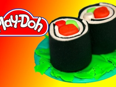 How to make Sushi Rolls out of Play Doh