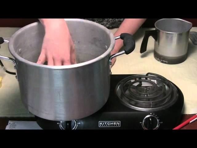 How to Melt Wax for Homemade Candle Making