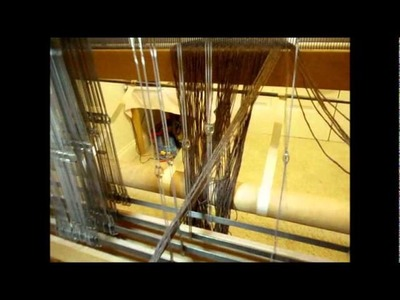 How to Weave on a Loom - Video 10 - Threading heddles on a loom Part 2