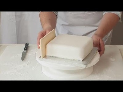 How To Wrap A Square Cake With Fondant