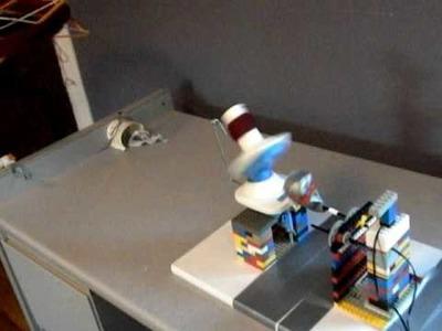 Lego-powered yarn ball winder, version 1