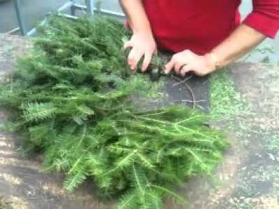 Making a Wreath - Mickman Brothers Holiday Fundraiser