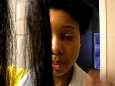 My natural hair. wash, blow-out, braid!