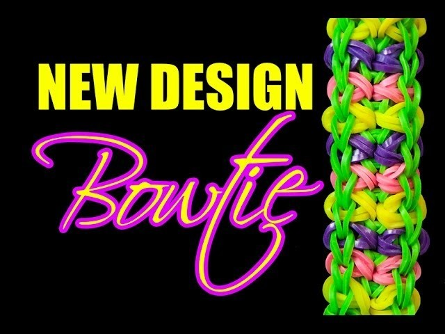 NEW Rainbow Loom Design - BOWTIE Bracelet HD