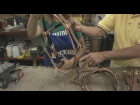 Part 6, Visit to Buckaroo Leather. Assembling Leather Headstall
