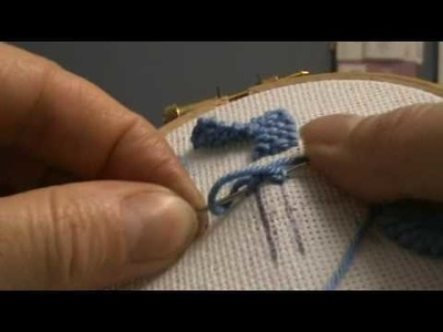 Plaited Braid Stitch - Jacobean Hand Embroidery