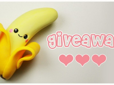 Polymer clay Kawaii Banana TUTORIAL + GIVEAWAY CLOSED ! ( jewelry & AmiGami toy)