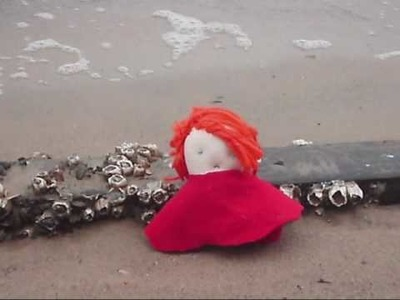 *Ponyo On A Cliff ~ Handmade Doll*