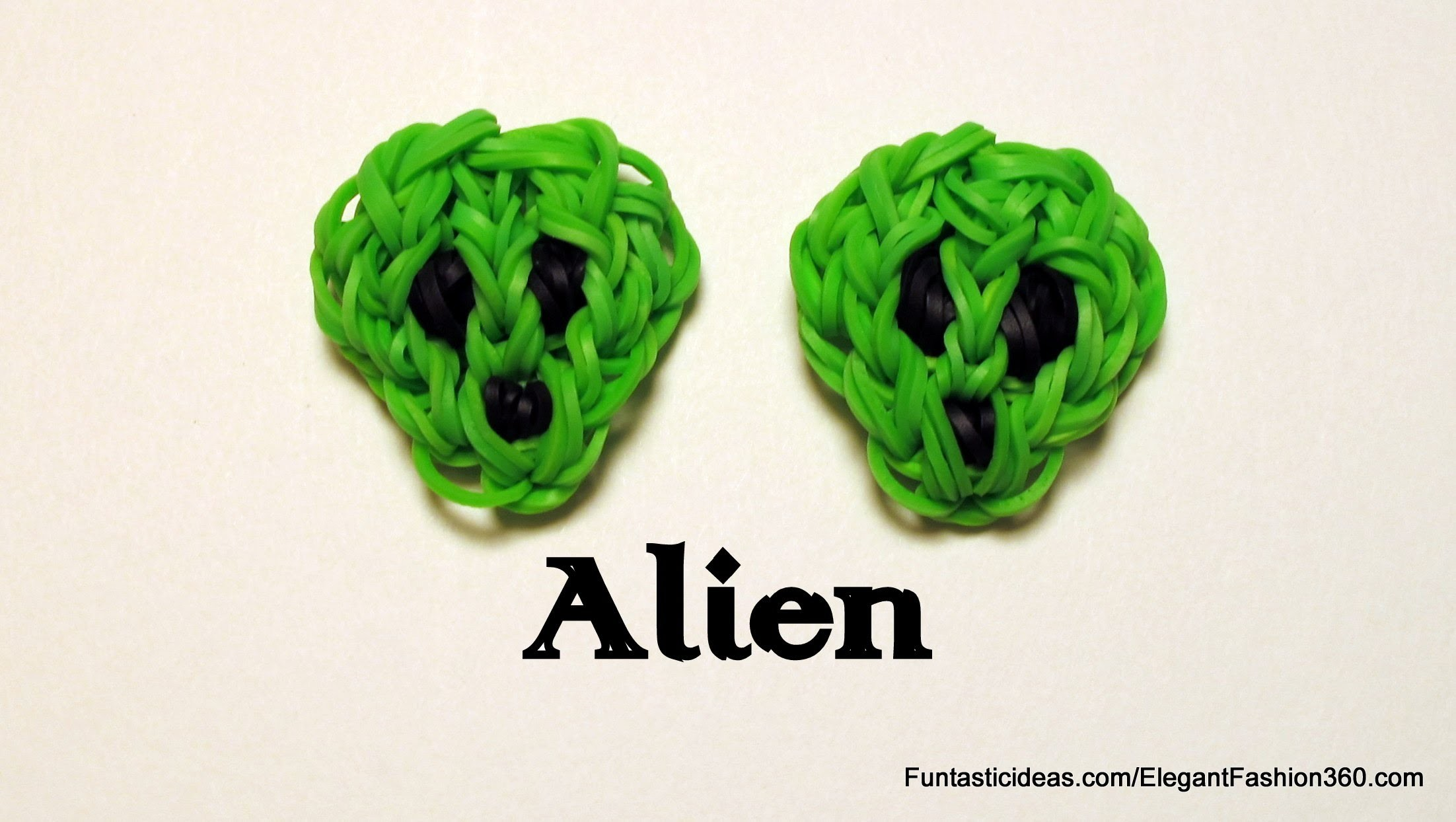 Ranbow Loom Alien Charm - How to - Emoji.Emoticon Series