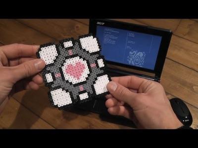 Speedy Sprite Art + Coffee! - Portal Edition - GLaDOS - Companion Cube