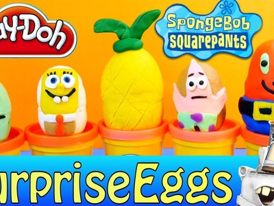 Spongebob Surprise Eggs Play Doh Disney Cars 2 Mater Nickelodeon Surprise Toy Egg