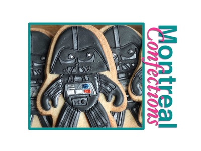 Star Wars cookies - How to make Darth Vader cookies