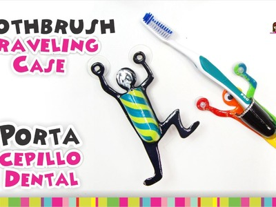 Toothbrush holder Polymer Clay Tutorial. Porta cepillo dental de Arcilla Polimérica