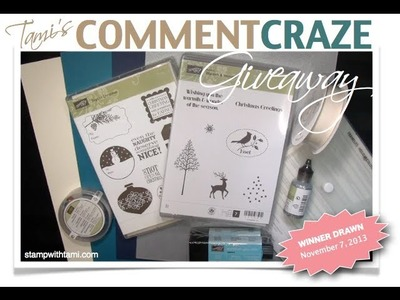 Win Free Stampin Up products with the Comment Craze Give away