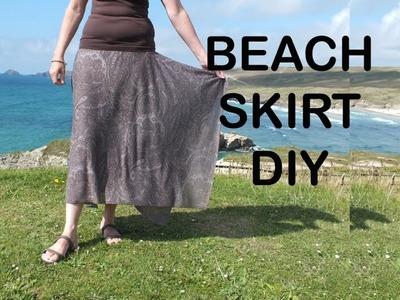 Beach Skirt. Hanky hem skirt. How to sew a skirt
