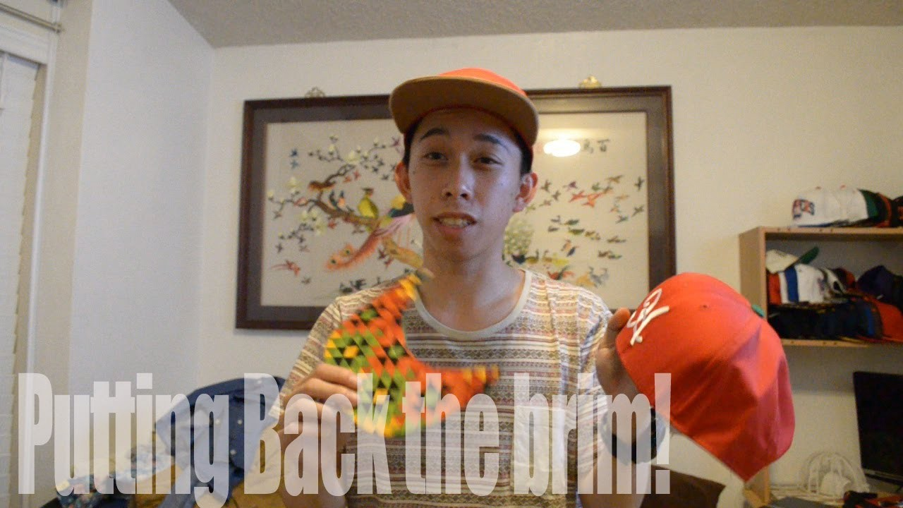 [CustomSnapback] How to put the brim back to the hat tutorial