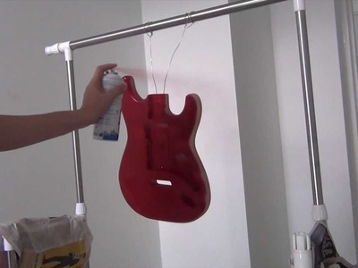 DIY Strat Step 3 : Painting the Guitar