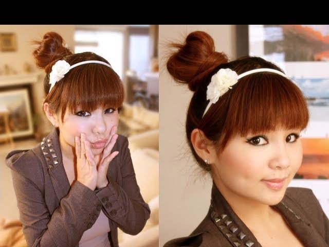 Easy Japanese Hair Bun Tutorial