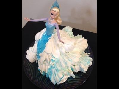 Elsa Doll Cake- Frozen- Cake Decorating