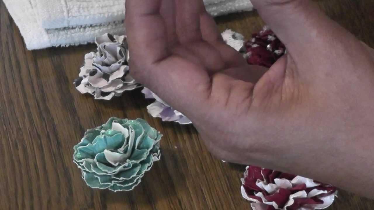 Handmade flowers and a Tutorial 10-16-12