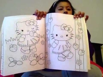Hello Kitty coloring book.