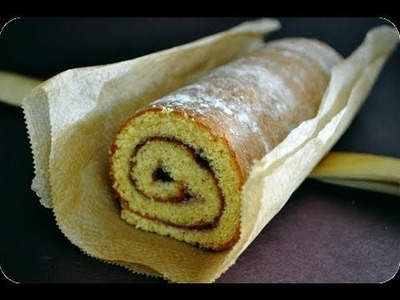 How to bake a swiss roll cake (Easy)