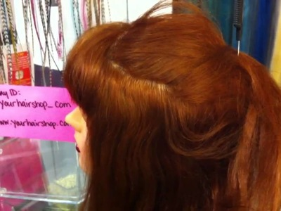 How to install feather hair extensions