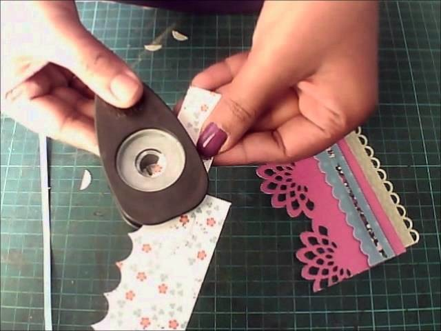 How to: Make a Background using Pattern Papers and punches by Lulupu TV