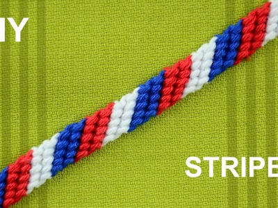 How to Make a Candy Stripe. Diagonal Striped Friendship Bracelet. Beginner