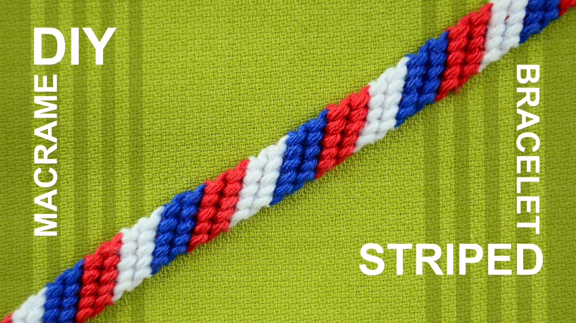 How to Make a Candy Stripe. Diagonal Striped Friendship Bracelet. Beginner