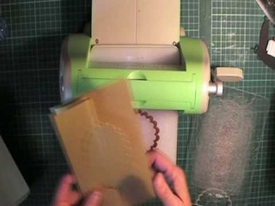 How to make a half window card in the Cuttlebug