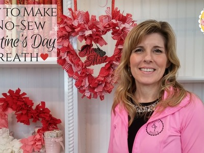 How To Make a No-Sew Valentine's Day Wreath | Shabby Fabrics