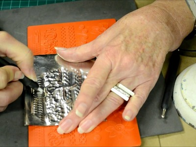 How to make a pewter embossed initial frame- Ten Seconds Studio