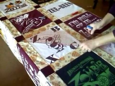 How to make a T-shirt quilt - Part 7