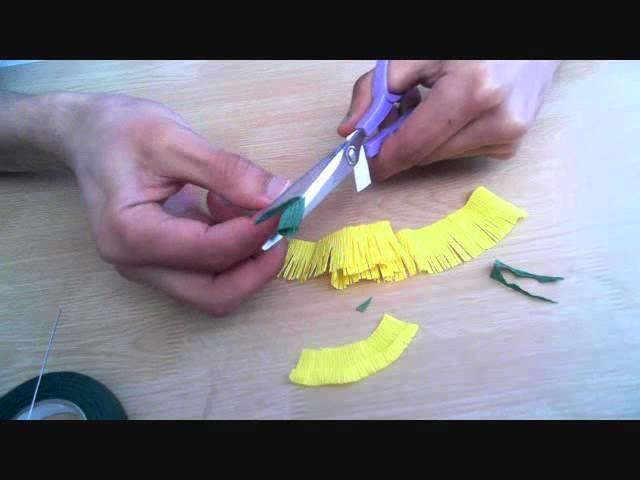 How to make paper flower dandelion
