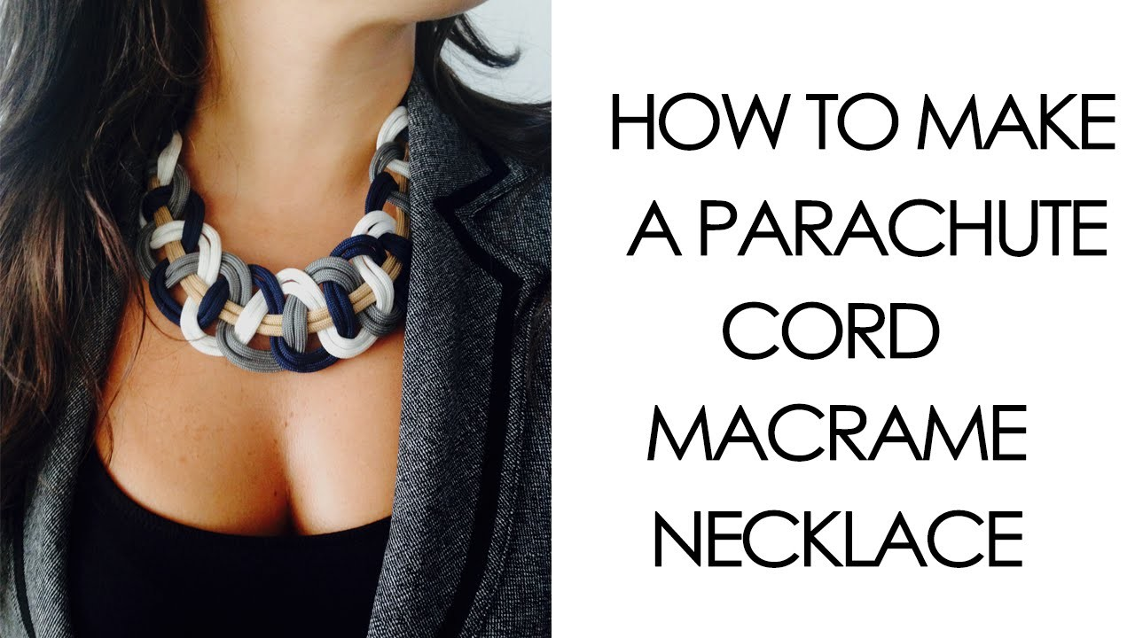 How to make Parachute Cord Macrame Necklace