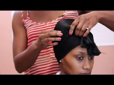 How to Tie an African-American Wrapping Scarf : African-American Hair Care