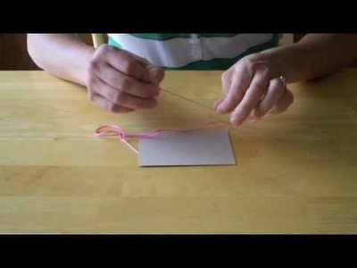 How To Video: Hand Stitched Greeting Card