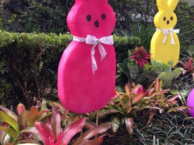 "Large EASTER Bunny Decoration ""How To"" - FAST & SUPER EASY!"