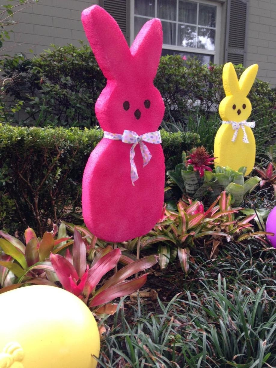 """Large EASTER Bunny Decoration """"How To"""" - FAST & SUPER EASY!"""