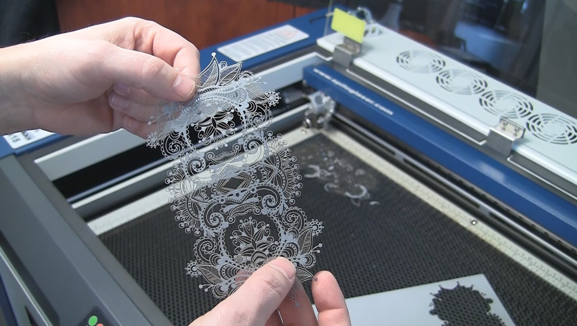 Laser Cut Paper - Intricate Lace Pattern with an Epilog Laser