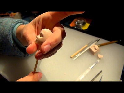 Making a One of a Kind (OOAK) Polymer Clay Fairy Art Doll, Part 1 Sculpting a Head and Torso