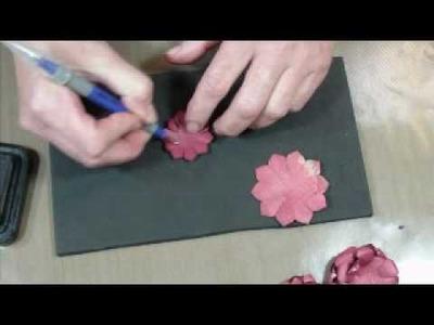 Making Paper Flowers with Spellbinders Nestabilities