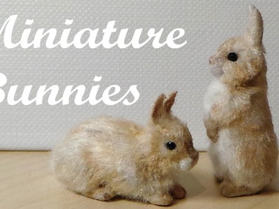 Miniature Bunnies. Rabbits - Polymer Clay Tutorial