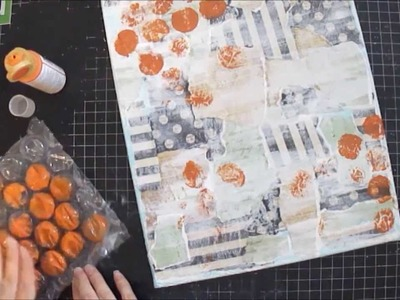 Mixed Media Art Canvas Collage Tutorial