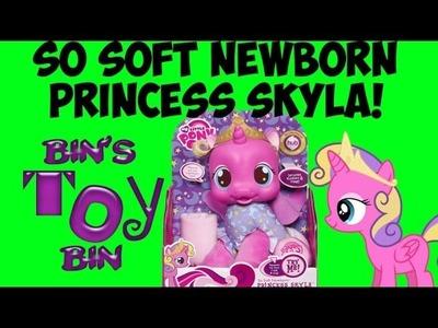 My Little Pony Talking PRINCESS SKYLA So Soft Newborn Plush Baby Doll Review! by Bin's Toy Bin