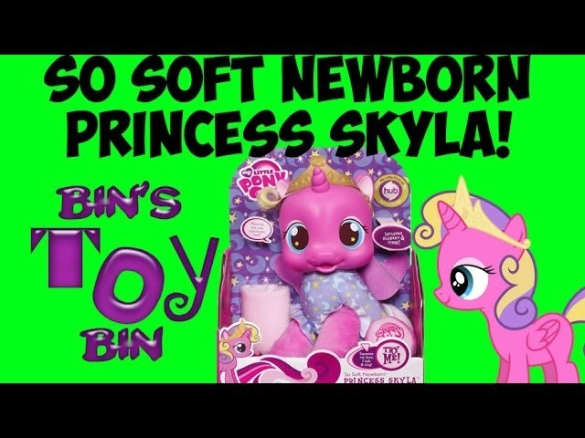 My Little Pony Talking PRINCESS SKYLA So Soft Newborn Plush Baby Doll Review! by Bin's Toy Bin
