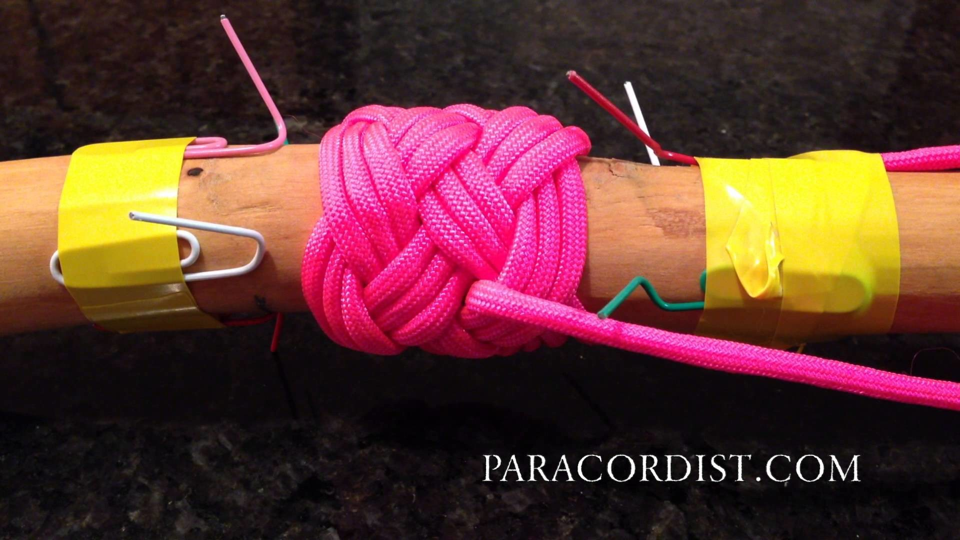Paracordist How to Plan Turks Head Paracord Handle Wrap Project - Leads? Bights? Length of Cord?