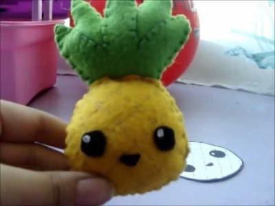 Pineapple plush tutorial. tutorial peluche de ananá