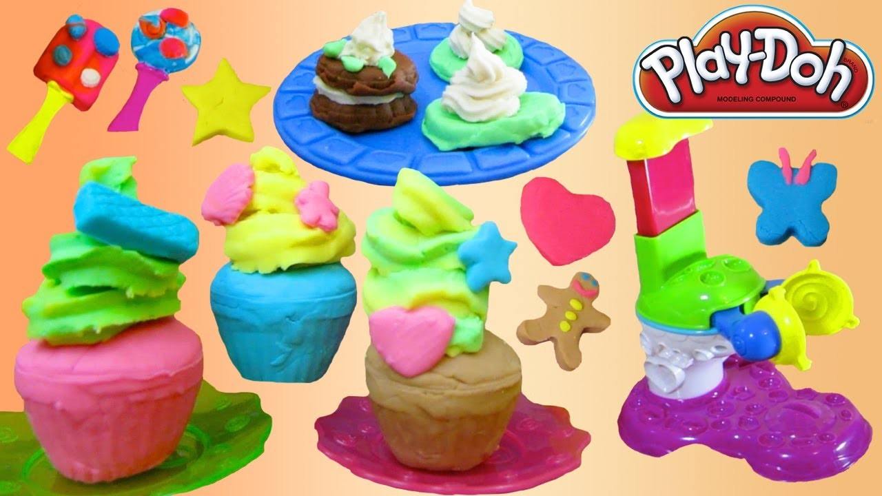 Play Doh Ice Cream, Cookies, Cupcakes, Desserts SUPER video Part 2 with 6 Playsets!